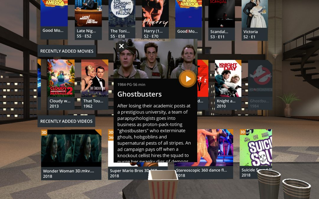 Plex VR has been brought to Oculus and Samsung Gear VR